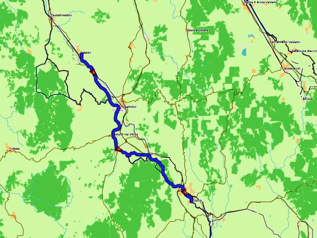 Certaldo - Siena: 46 km