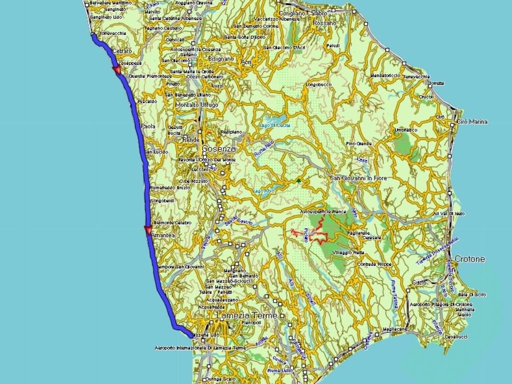 Sapri - Lido Gizzeria: 87 km