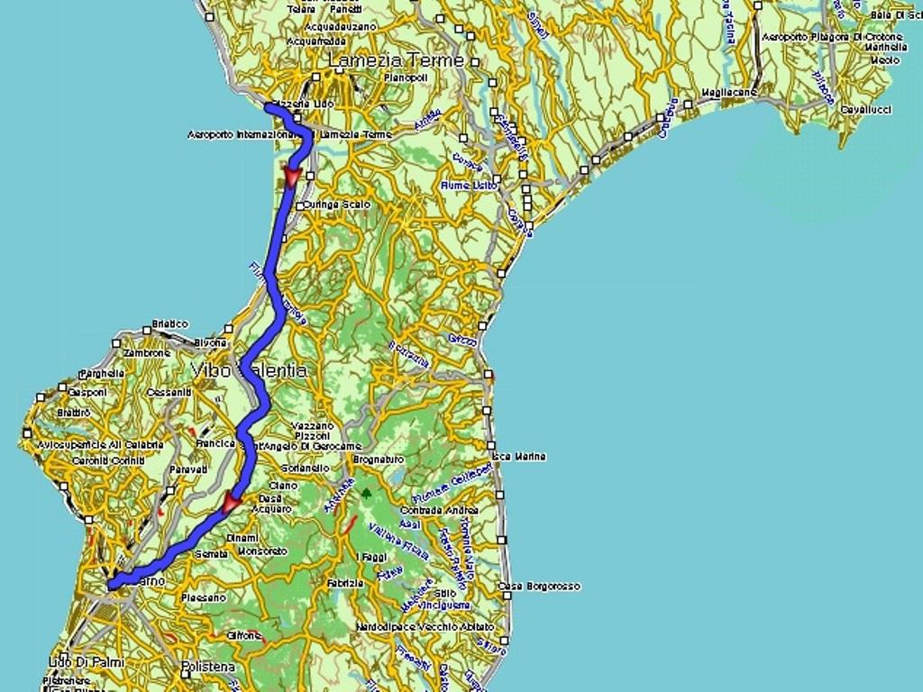 Gizzeria Lido - Rosarno: 83 km.