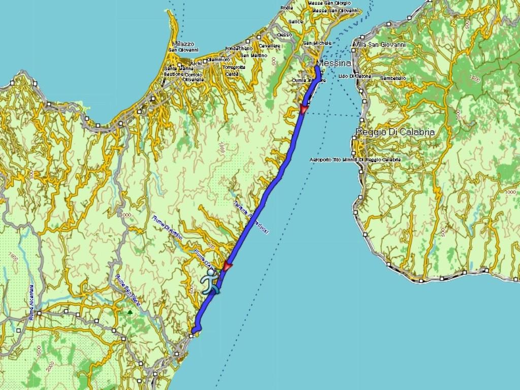 Messina - Taormina: 52 km.