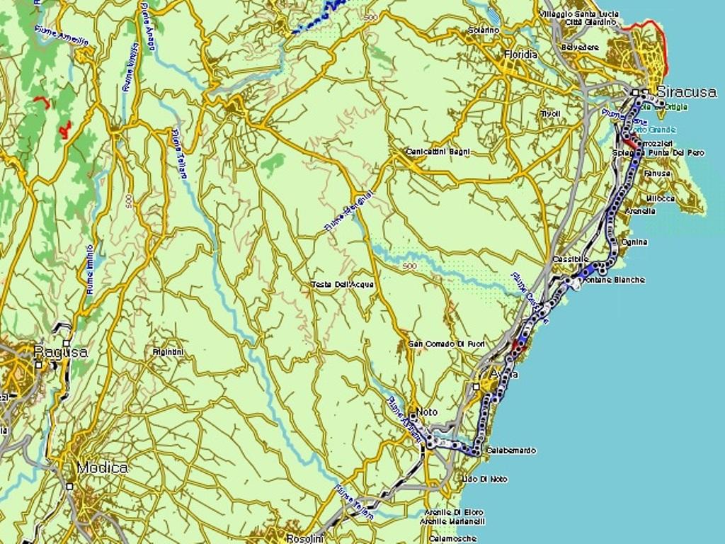Syracusa – Noto : 42 km