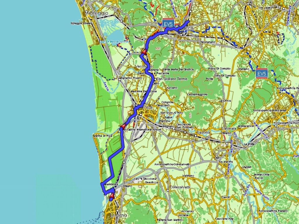 Livorno - Lucca: 59 km